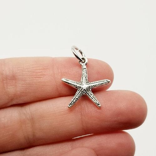 Starfish Silver Charm