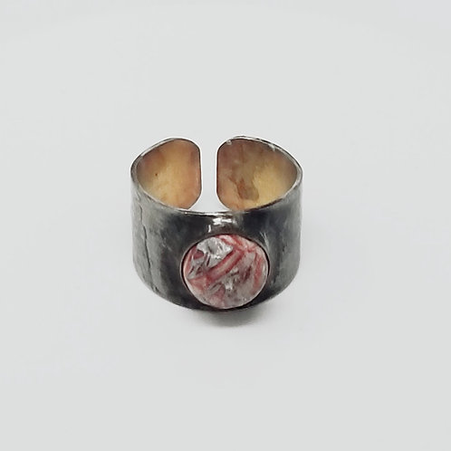 Agate Soldered Brass Ring