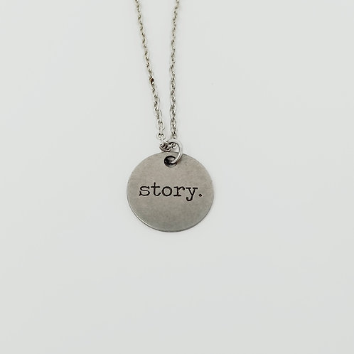 """Story"" Word Pendant Necklace"