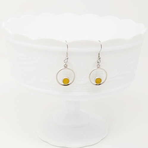 Step Up Circle 1 Ice Resin Earrings