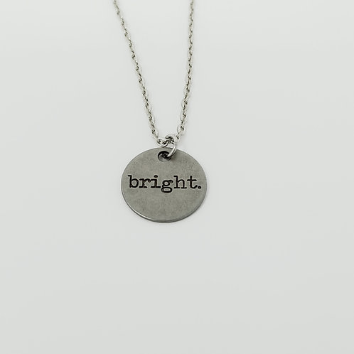 """Bright"" Word Pendant Necklace"