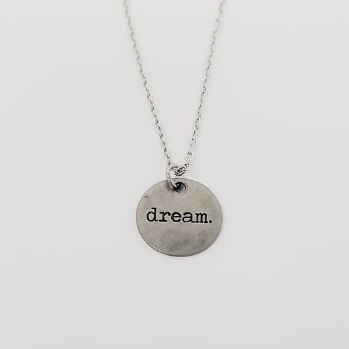 """Dream"" Word Pendant Necklace"