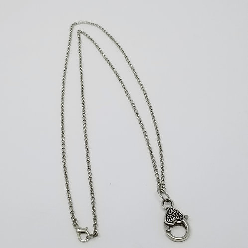 Antique Silver Rolo Chain Starter Necklace