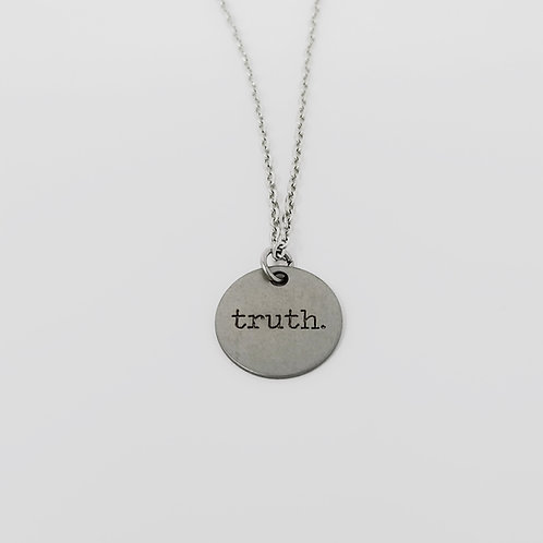 """""""Truth"""" Word Pendant Necklace"""