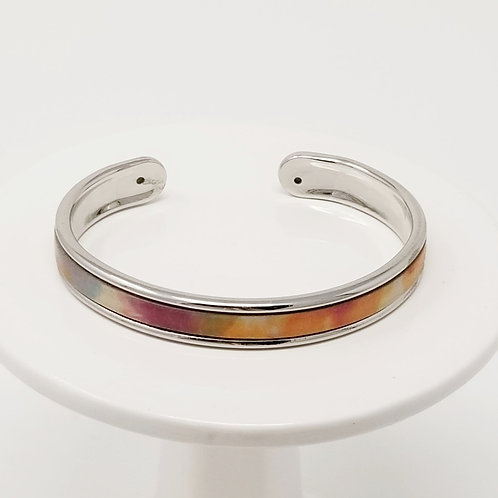 The Color of Spring Firm Leather & Metal Cuff
