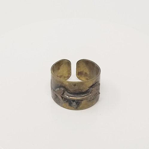 Arrow Soldered Brass Ring