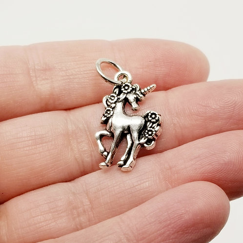 Unicorn Silver Charm