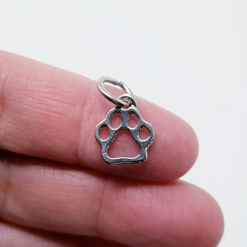 Paw Silver Charm