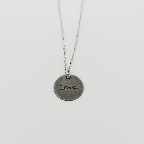 """Love"" Word Pendant Necklace"