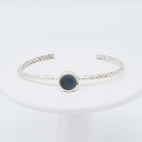 Ice Resin Grey Cuff Bracelet