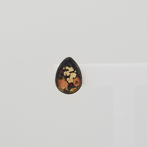 Autumn Florals 10x14mm Tear Drop Stud Earrings