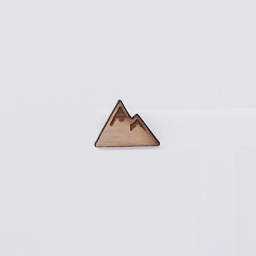 Mountain Wood Stud Earrings