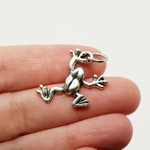 Frog Silver Charm