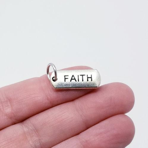 Faith Bar Silver Charm