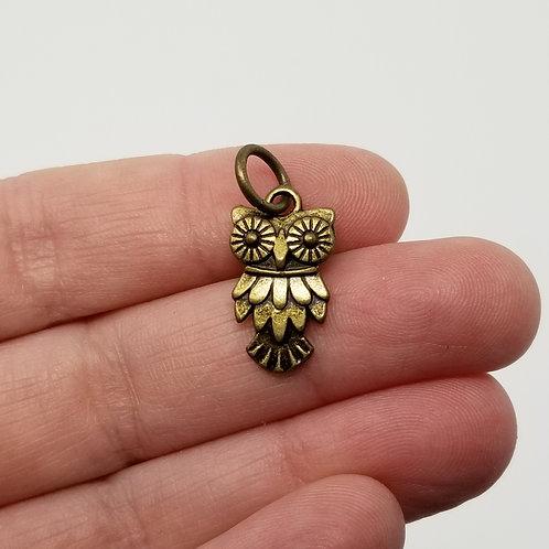 Owl Antique Bronze Charm
