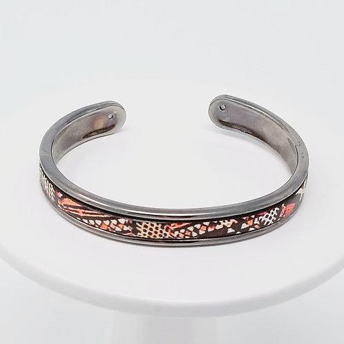 Kenya Firm Leather & Metal Cuff Bracelet