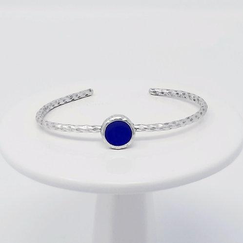 Ice Resin Royal Blue Cuff Bracelet