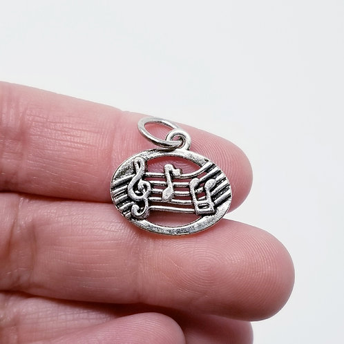 Musical Notes Silver Charm