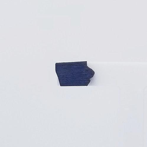 Navy Blue Iowa Wood Stud Earrings