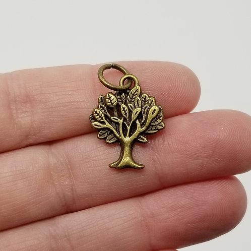 Tree Antique Bronze Charm