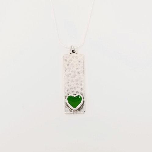 Short Green Narrow Heart Ice Resin 6