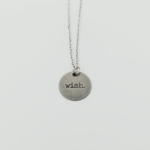 """Wish"" Word Pendant Necklace"