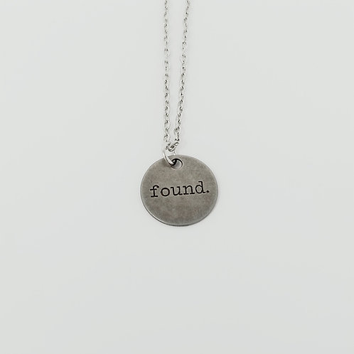 """""""Found"""" Word Pendant Necklace"""