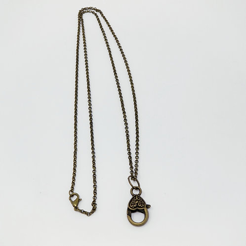 Antique Bronze Rolo Chain Starter Necklace