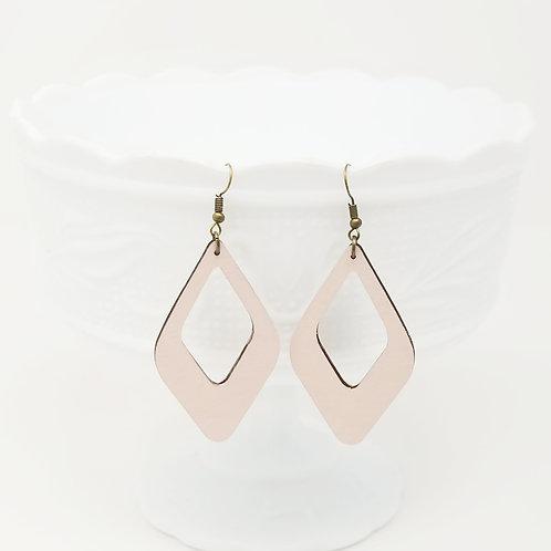 Blush Wood Earrings