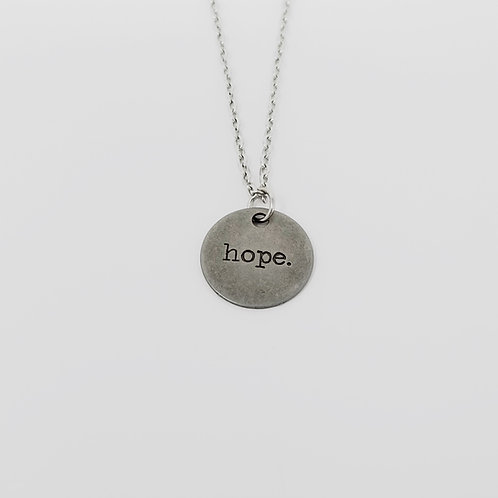 """Hope"" Word Pendant Necklace"