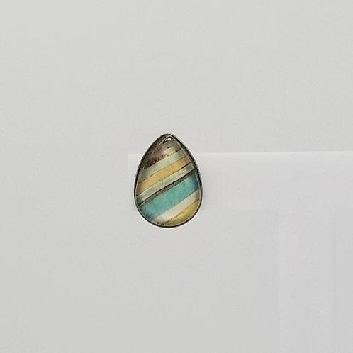Pastel Stripes 10x14mm Tear Drop Stud Earrings