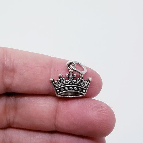 Crown Silver Charm