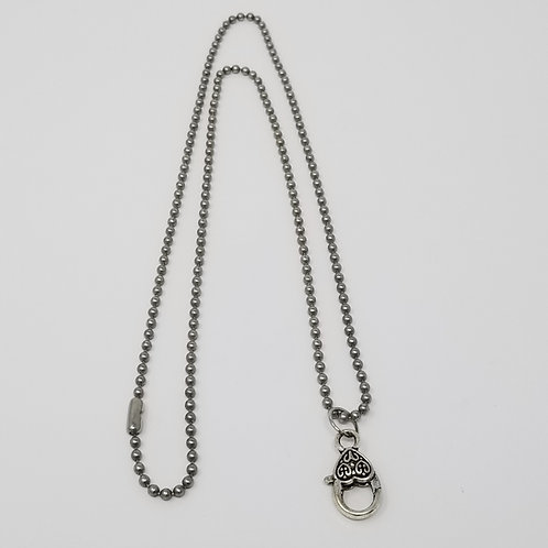 Antique Silver Ball Chain Starter Necklace