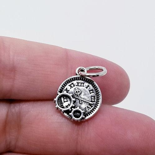 Pocket Watch Silver Charm