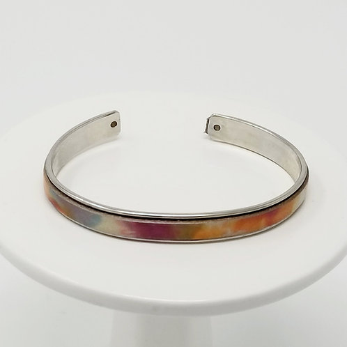 The Colors of Spring Adjustable Leather & Metal Cuff Bracelet