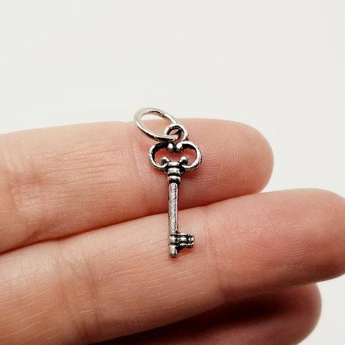 Key Silver Charm