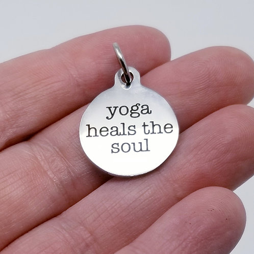 Yoga Heals the Soul Charm