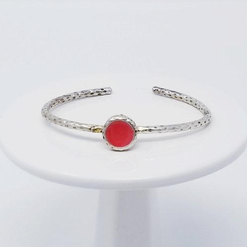Ice Resin Salmon Cuff Bracelet