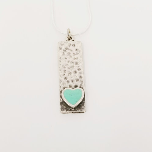 Short Mint Narrow Heart Ice Resin Necklace 4