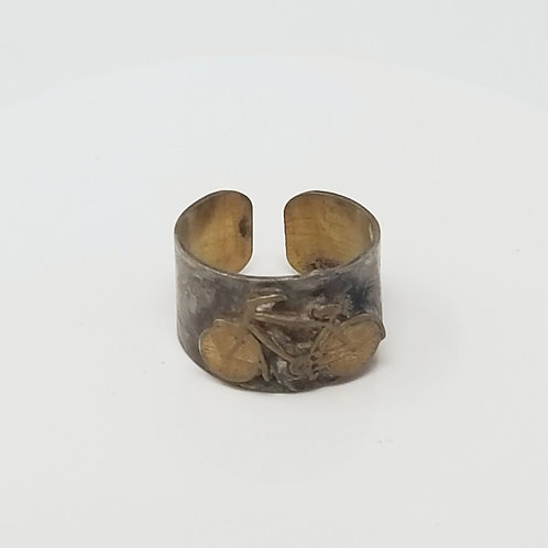 Bicycle Soldered Brass Ring