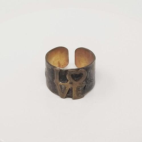 Love Soldered Brass Ring