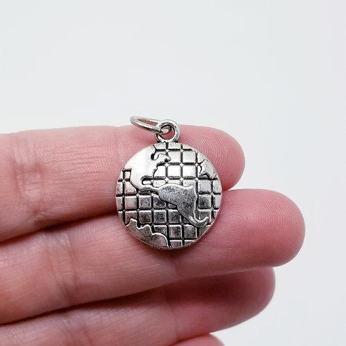 Globe Silver Charm