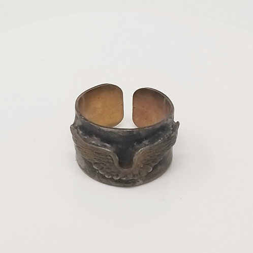 Wings Soldered Brass Ring
