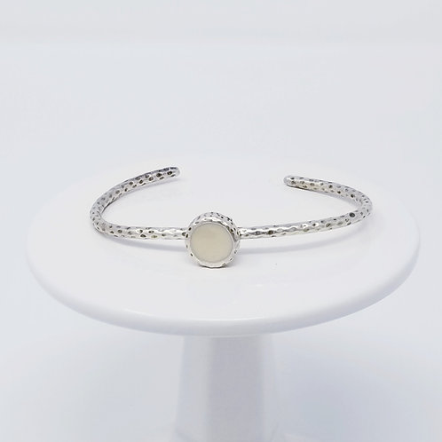 Ice Resin Cream Cuff Bracelet