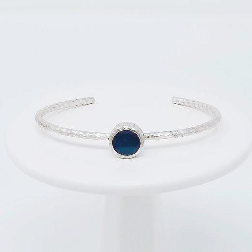 Ice Resin Navy Blue Cuff Bracelet