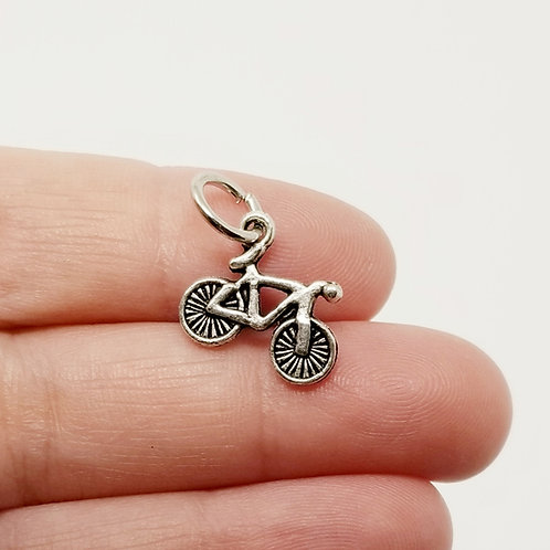 Boys Bicycle Silver Charm