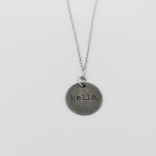 """Hello"" Word Pendant Necklace"
