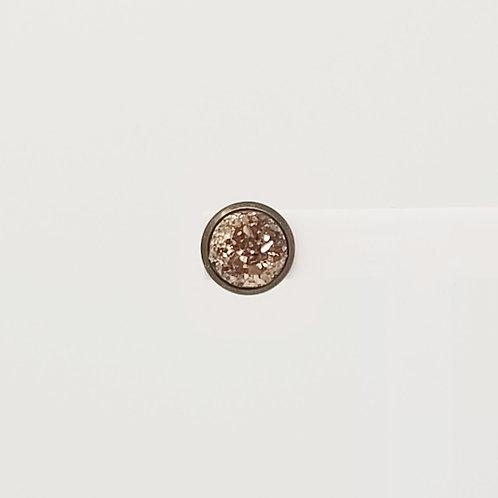 Rose Gold Faux Druzy 10mm Stud Earring