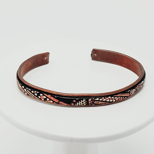 Kenya Adjustable Leather & Metal Cuff Bracelet