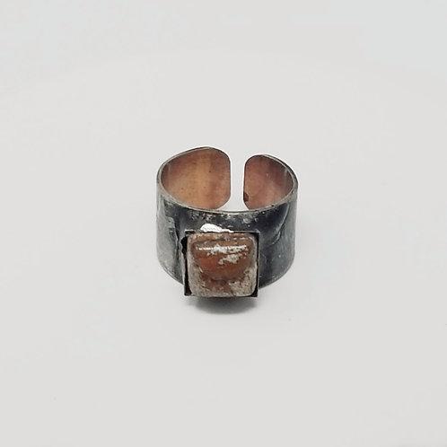 Leopard Jasper Soldered Brass Ring